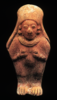 ecuadorian figurine with hands to breasts