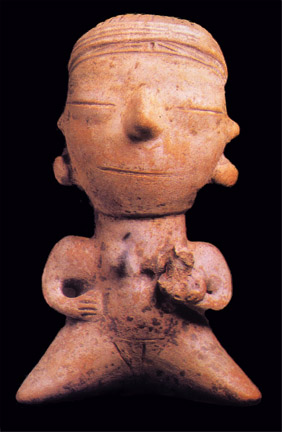 clay figurine from Santarem Brazil