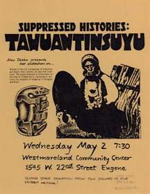 Tahuantinsuyu, show on South America, Eugene OR c. 1980