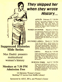 They Skipped Her When They Wrote History, lecture series by Max Dashu at UC-Berkeley, CA