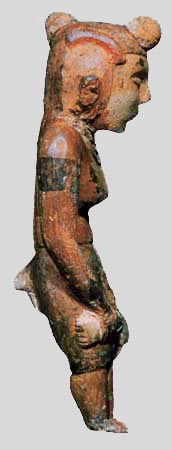 clay woman from ancient Illinois